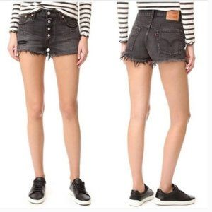 Levi's 501 High Rise Button Fly Cut Off Shorts
